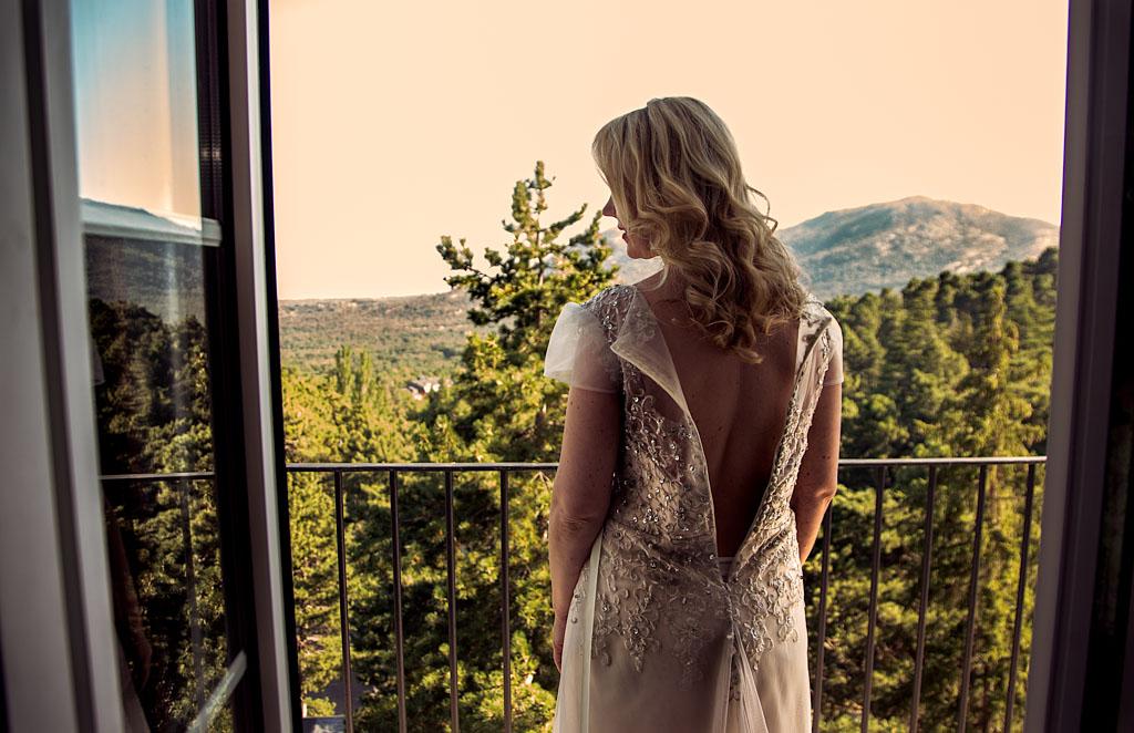fotochitabodas - fotografia de boda Madrid - el escorial- novia
