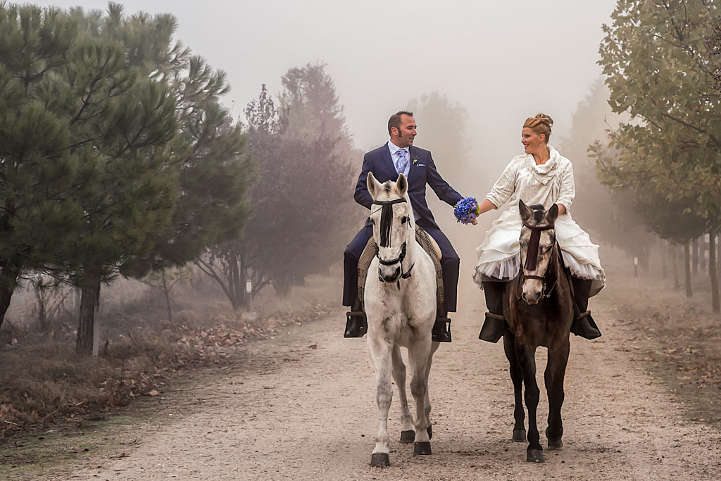 fotochitabodas - fotografia de boda Valladolid- novio - novia - caballo - 1024px